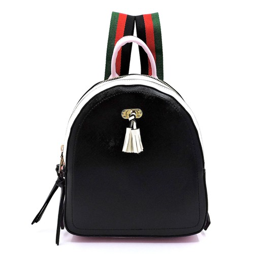 Colorblock Canvas Stripe Backpack - orangeshine.com