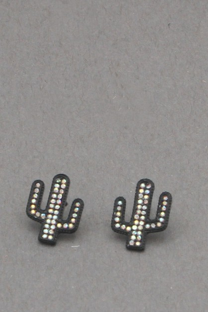 STONE CACTUS  POST EARRING - orangeshine.com