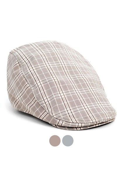 Spring Summer Plaid Classic Ivy Hat - orangeshine.com