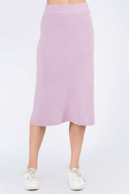 Soft Rib Sweater Skirt - orangeshine.com