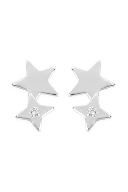 MINI DOUBLE STAR EARRINGS - orangeshine.com