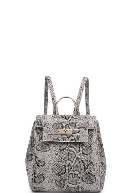 SNAKESKIN TURNER MINI BACKPACK - orangeshine.com