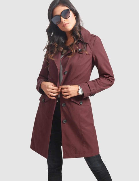 Belted Trench Coat - orangeshine.com