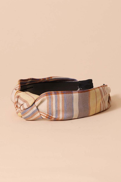 Soft Plaid Headbands - orangeshine.com