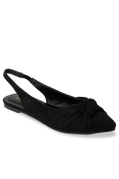 Pointed Plain Ballet Flats - orangeshine.com