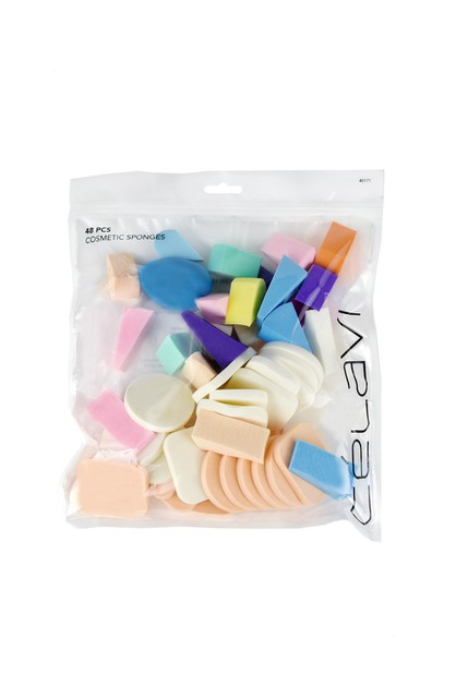 CELAVI COSMETIC SPONGE ASSORTED 48PC - orangeshine.com