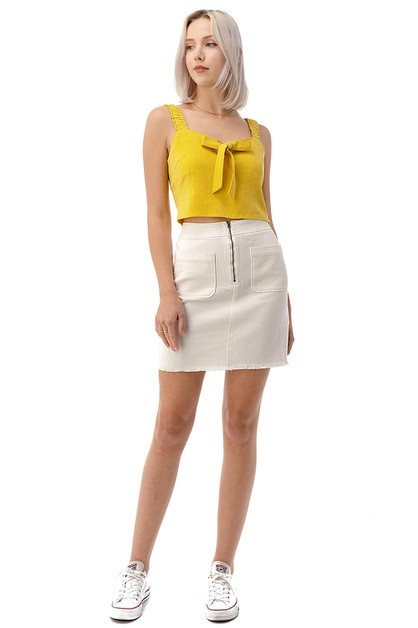 DOUBLE POCKET MINI SKIRT - orangeshine.com