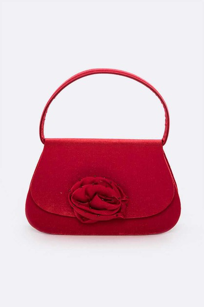 Satin Top Handle Clutch Bag - orangeshine.com