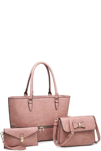 3IN1 TOTE BAG WITH CROSSBODY CLUTCH - orangeshine.com