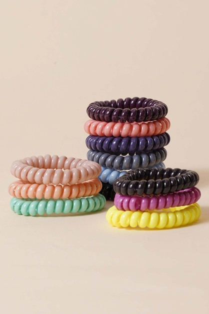 Spiral Hair Ties - orangeshine.com