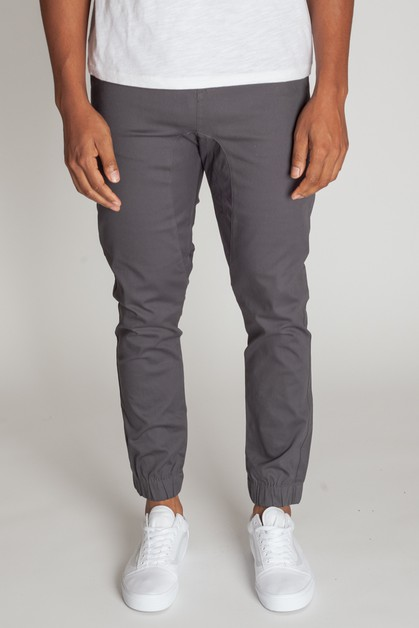 DROP CROTCH TWILL JOGGER - orangeshine.com
