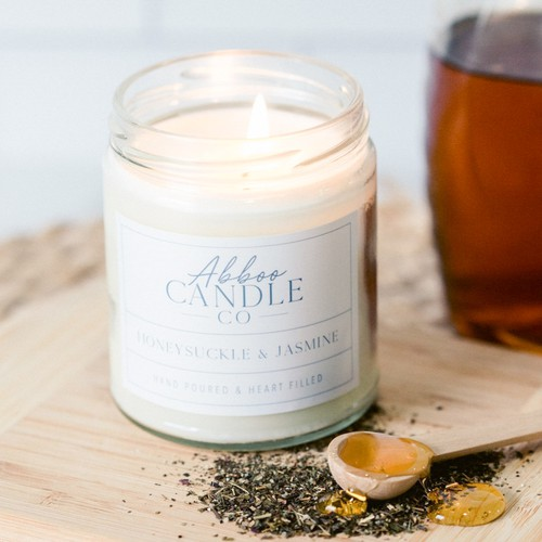 Honeysuckle Jasmine Soy Candle - orangeshine.com