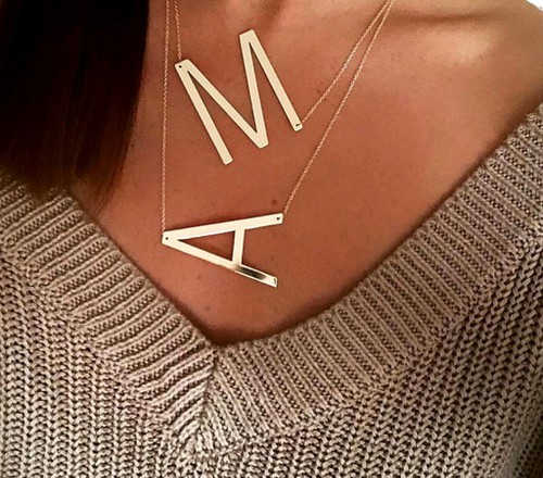 Trendy letter necklaces - orangeshine.com
