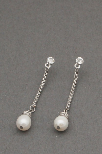 CHAIN WITH PEARL DANGLE EARRING - orangeshine.com