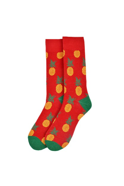 Mens Pineapple Novelty Socks - orangeshine.com