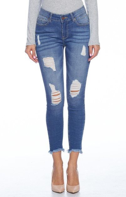 Skinny Jeans Destroyed - orangeshine.com