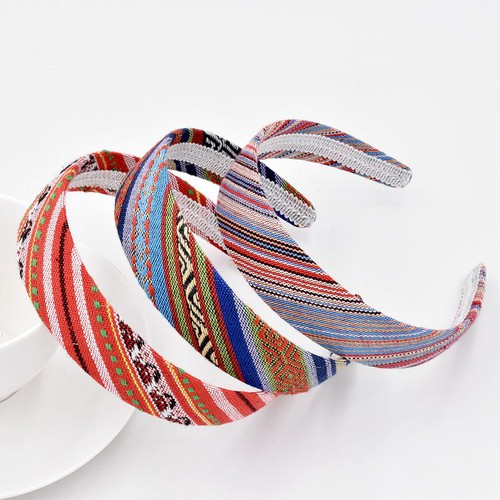 Boho serape print wide headbands pk5 - orangeshine.com