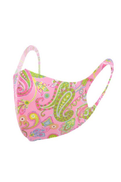 Paisley Print Fashion Face Mask - orangeshine.com