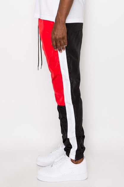 MEN NYLON COLORBLOCK PANTS - orangeshine.com