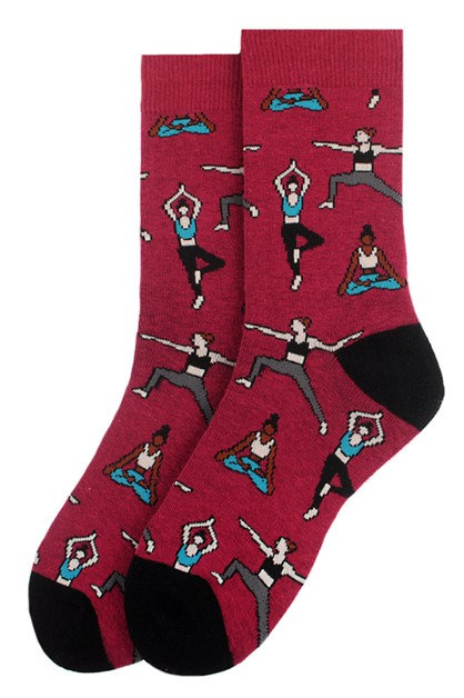 Womens Yoga Novelty Socks - orangeshine.com