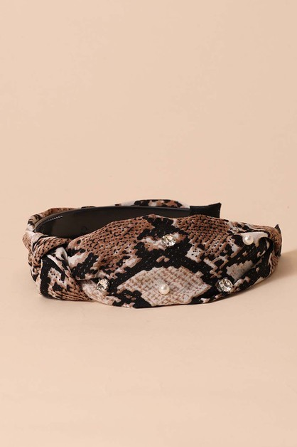 Snake Print Headbands - orangeshine.com
