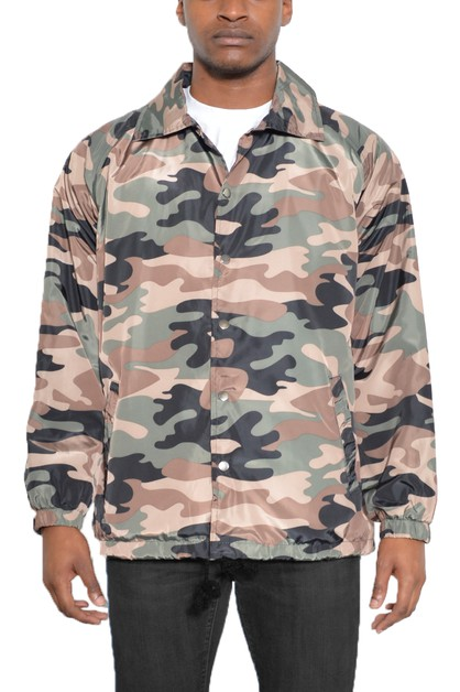 Camo Coachs Windbreaker Jacket - orangeshine.com