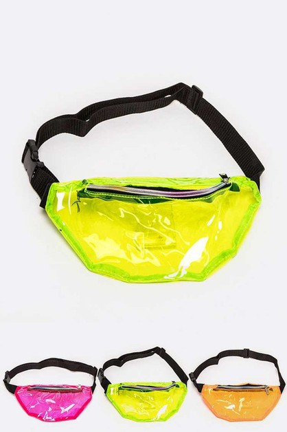Neon Color Cleared PVC Fanny Pack Se - orangeshine.com