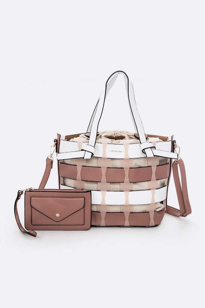2 In 1 Convertible Shoulder Bag Set - orangeshine.com