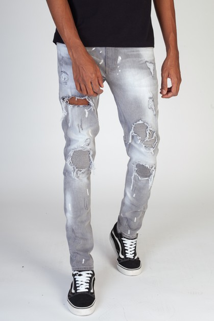 PINTUCK-PATCHED JEANS - orangeshine.com