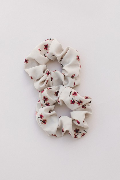 Floral Hair Scrunchie - orangeshine.com