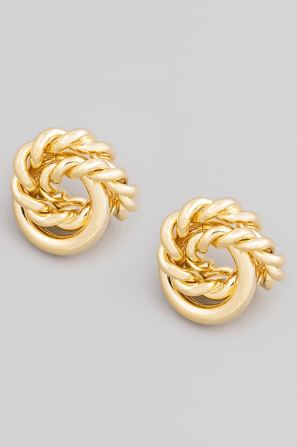 Mini Spiral Twist Stud Earrings - orangeshine.com