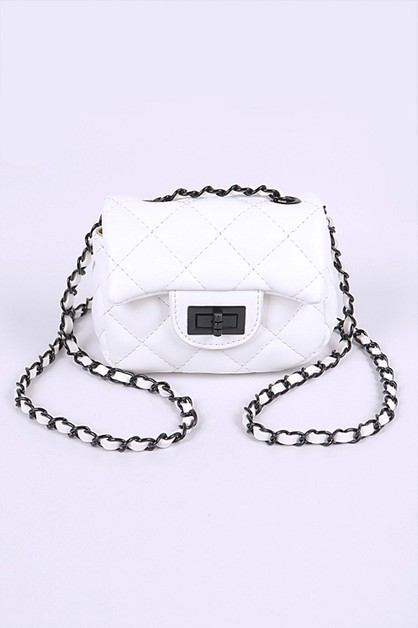 Quilted Small Swing Bag - orangeshine.com