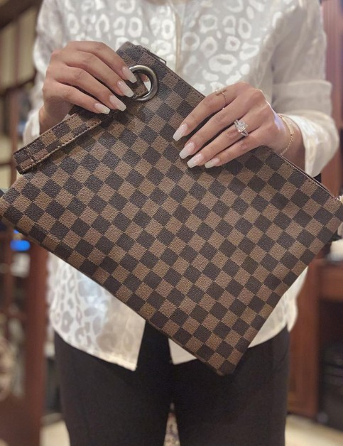 Womens checkered clutch bags - orangeshine.com