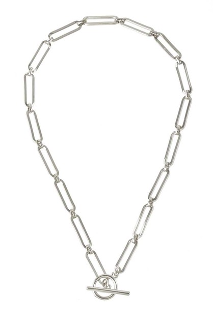 Big Link Chain Necklace with Toggle - orangeshine.com