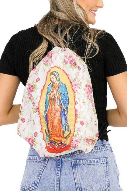 Our Lady of Guadalupe Cinch Bag - orangeshine.com