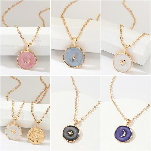 Fashion alloy moon star necklaces - orangeshine.com