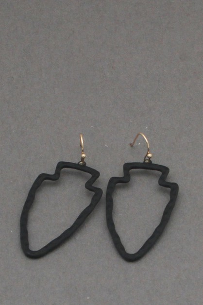 COATING METAL ARROW  DANGLE EARRING - orangeshine.com