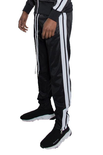 Striped Tape Track Pants Joggers - orangeshine.com