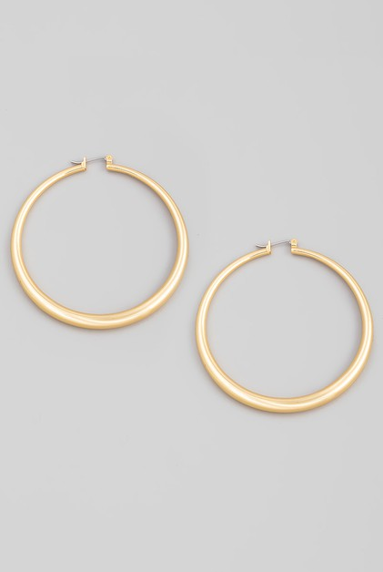 60MM Thin Latch Hoop Earrings - orangeshine.com
