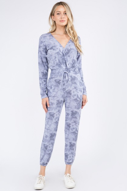 Soft Terry Tie Dye Jumpsuit - orangeshine.com