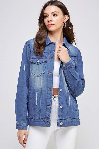 Jean Jacket Destroyed - orangeshine.com
