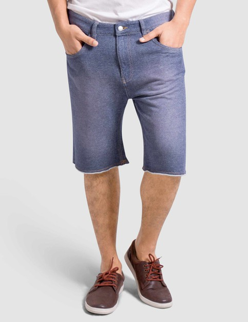 Mens Knitted Denim Shorts Slim Fit - orangeshine.com