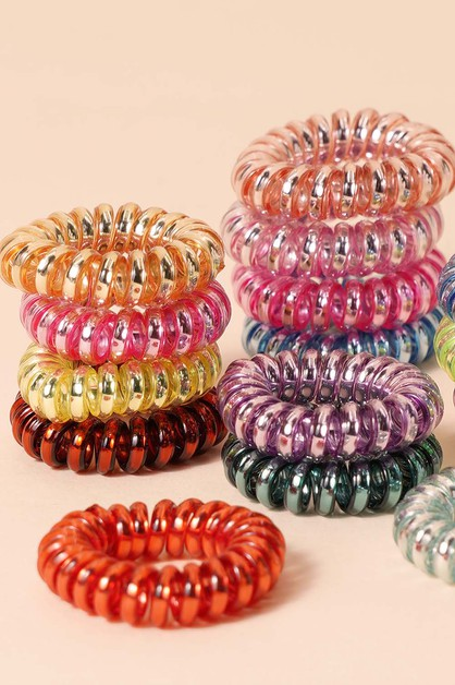 Mini Spiral Hair Ties - orangeshine.com