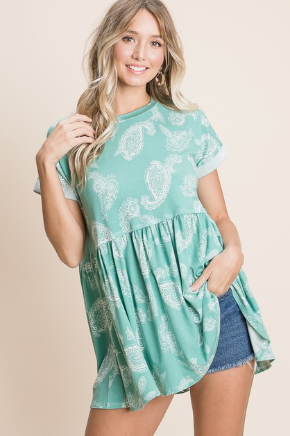 Hello Spring Baby Doll Top - orangeshine.com