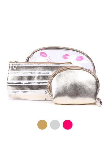 Makeup Bag 3pc Set Cosmetic Bag - orangeshine.com