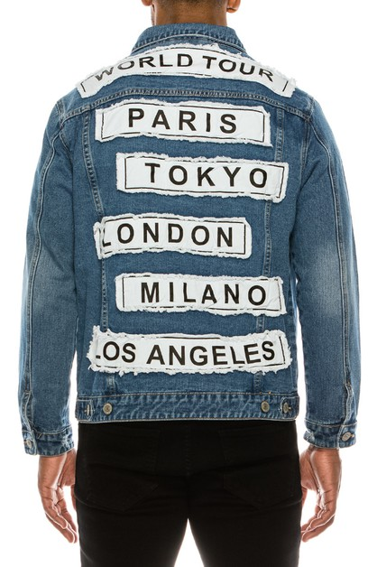 MEN WORLD TOUR DENIM JACKET - orangeshine.com