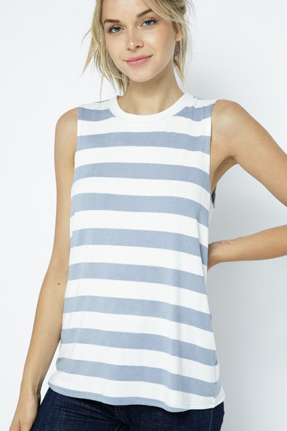 SUMMER READY STRIPE TANK - orangeshine.com
