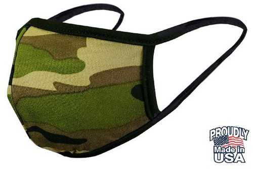 COTTON CAMO  REVERSIBLE FACE MASK - orangeshine.com