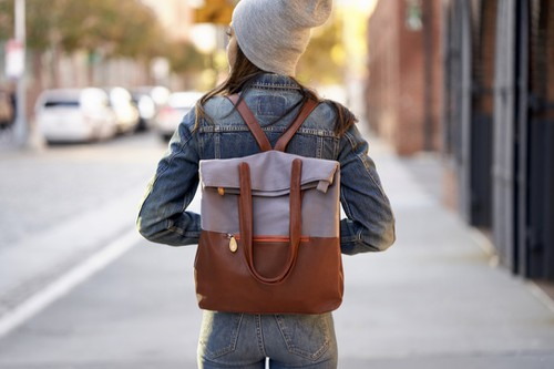 Gray Backpack Purse - orangeshine.com