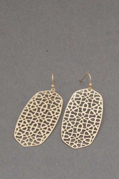 METAL FILIGREE  DANGLE EARRING - orangeshine.com